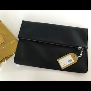 Authentic Minor History Duo BL Leather Fold Clutch